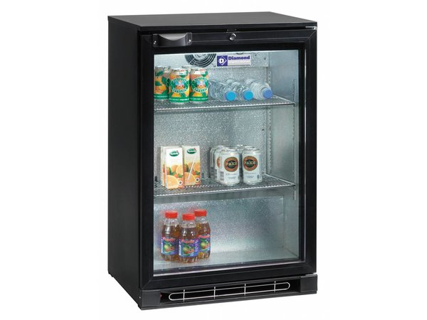 Diamond Bottle cooler 1 Deurs | Lighting | 124 Liter | 600x520x (H) 900mm