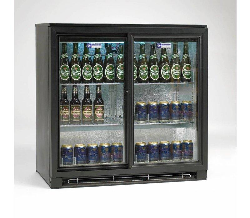 Diamond Flaschenkühler | 2 Selbstschließende Türen | LED-Beleuchtung | 900x515x (H) 900mm