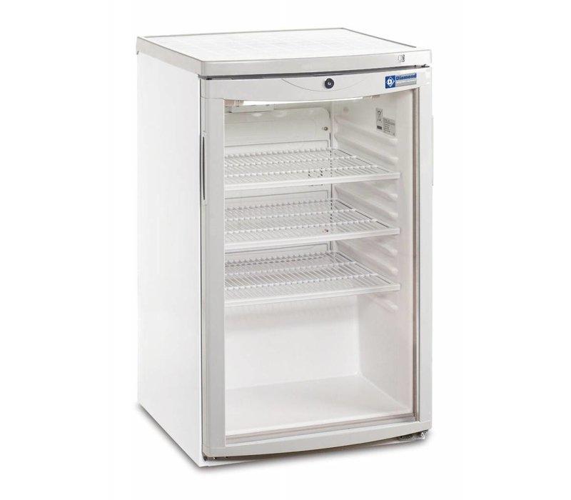 Diamond Koelkast - 110 Liter - glazen deur - 50x56x(h)85cm