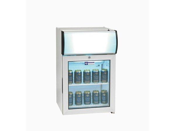 Diamond Kühlschrank - 60 Liter - zwei Gitter - mit Licht - 48x45x (h) 72cm