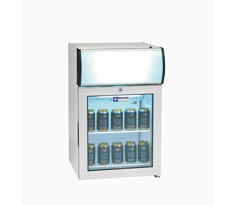 Diamond Refrigerator - 60 Liter - two grids - with light - 48x45x (h) 72cm