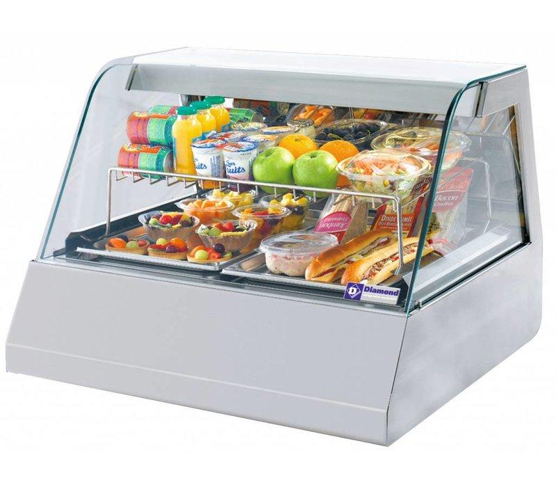 Diamond Refrigerated display case design 2 x 1/1 GN - 80x73x (h) 60cm