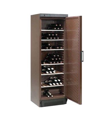 Diamond Wijnklimaatkast - 380 Liter - 6 roosters - Bruin plaatstaal -  505x462x(H)1555 mm