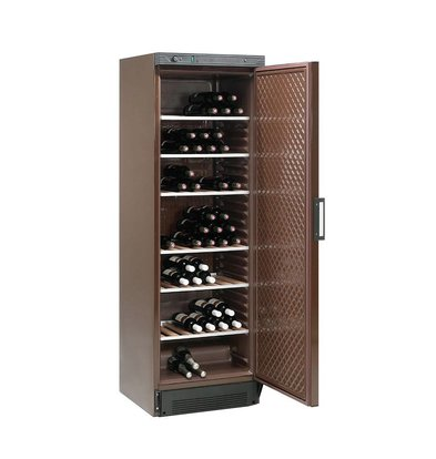 Diamond Wine Climate Cabinet - 380 Liter - six grids - brown bands - 505x462x (H) 1555 mm