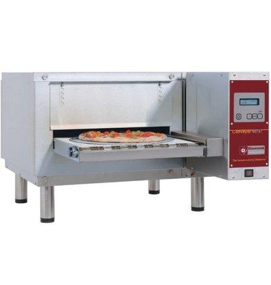 Diamond Durchlaufofen / Tunnel Pizzöfen | 25 Pizzen 350mm | 400V | 98x130x (h) 44cm