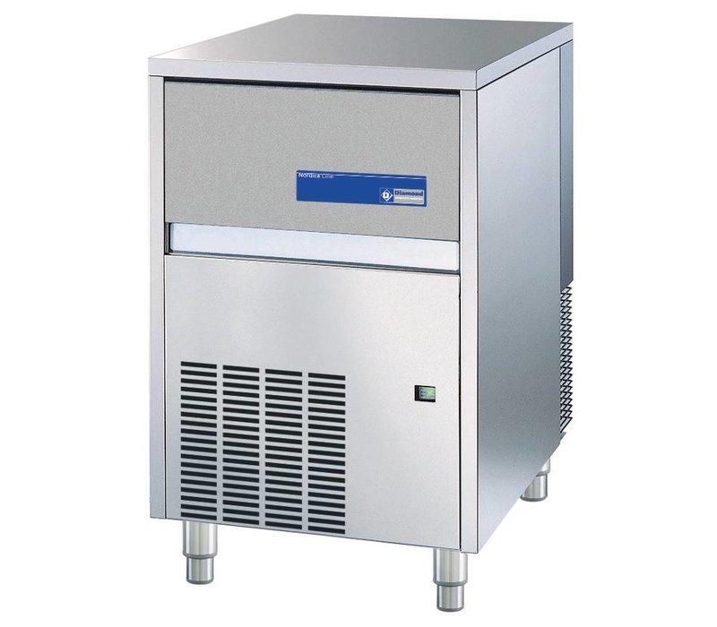Diamond Ice machine - 65kg / 24hr - Storage 40kg - Full cubes - Made in Europe