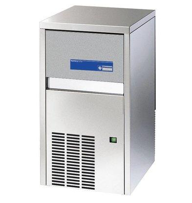 Diamond Ice machine - 28kg / 24hr - Storage 9kg - Full cubes - Made in Europe