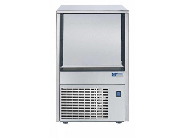 Diamond Eiswürfel-Maschine 22kg / 24 RVS - Storage 9KG - Hohleiskegeln