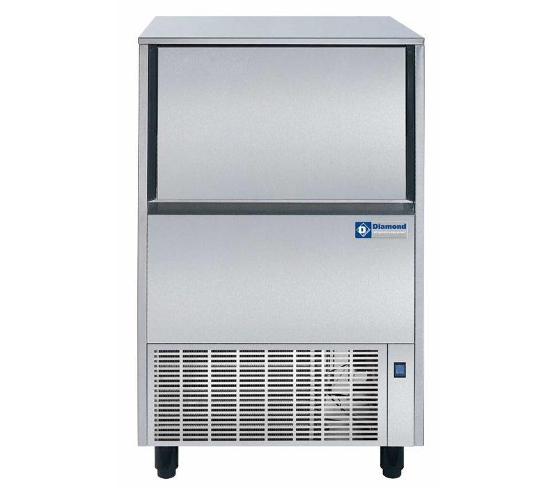 Diamond Eis-Maschine 75 kg / 24 RVS - Storage 37kg - Hol