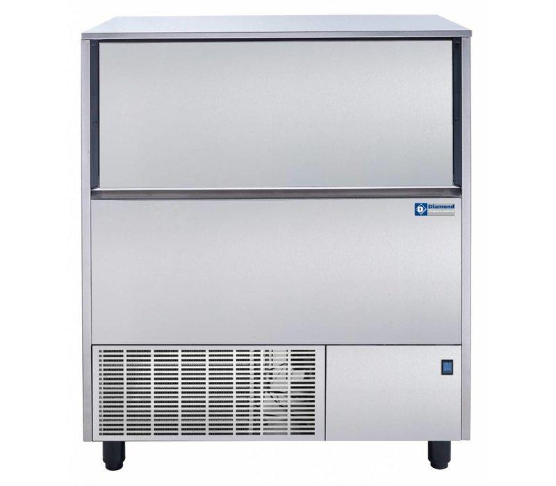 Diamond Ice Machine 122kg / 24 hour RVS - Storage 50KG - Hol