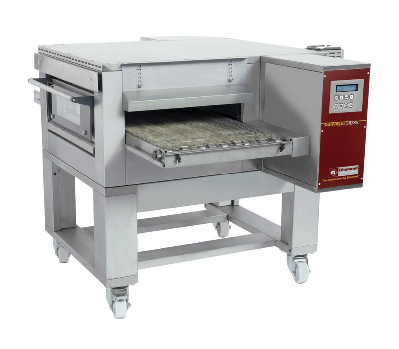 Diamond Doorloop Oven/Tunnel Pizza Oven | Breedte 500mm | 400V | 1260x1750xh490/1070mm