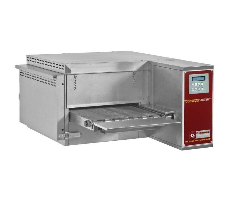 Diamond Doorloop Oven/Tunnel Pizza Oven Gas   Breedte 400mm   1030x1300xh440/1060mm