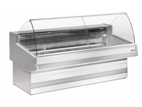 Diamond Vitrine Toonbank   Granieten Werkblad   Gekoeld 0° / 2°   1500x1040x(H)1200 mm