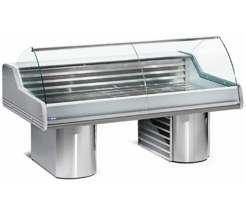 Diamond Stellen Zähler Fische | Worktop Granit | Gekühlte 0 / + 2 ° C | 1500x1195x (h) 1175mm