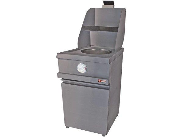 Diamond Gas Fryer RVS | Runde Eimer 13 Liter | Berg Pendeltür | 535x870xh930 / 1507mm