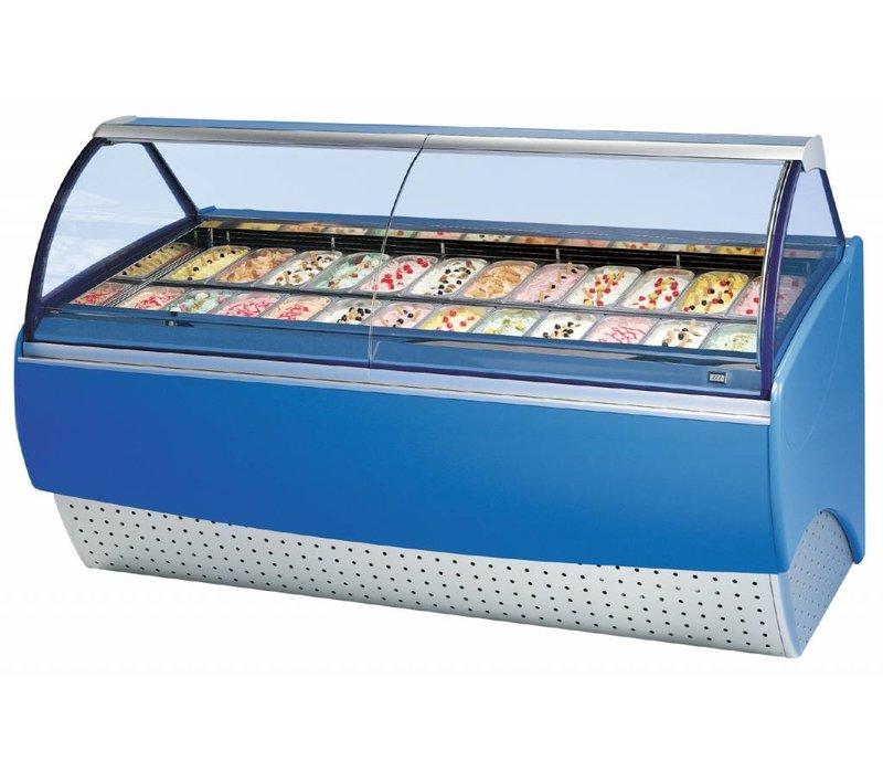 Diamond Unit Leveling For Ice Cream | 24 Baking | Night Curtain | 1.59 kW | 2240x1135x (H) 1344mm