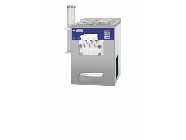 Diamond Soft ice cream machine - 22,5kg / hour - two flavors - one mixture - air condenser