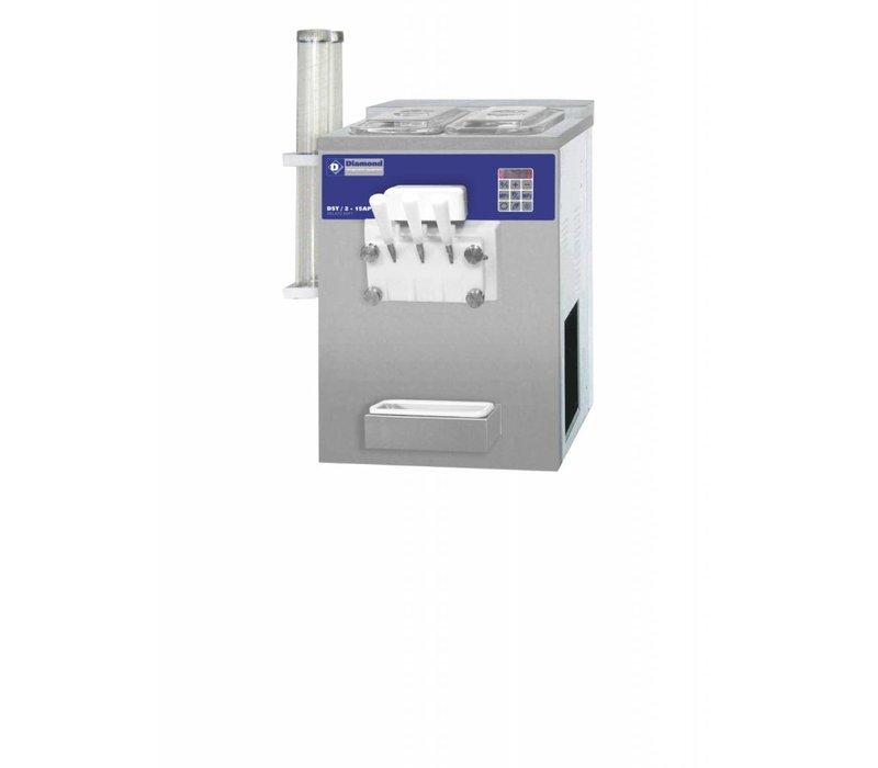 Diamond Softeismaschine - 22,5kg / h - zwei Geschmacksrichtungen - einer Mischung - Luftkühler