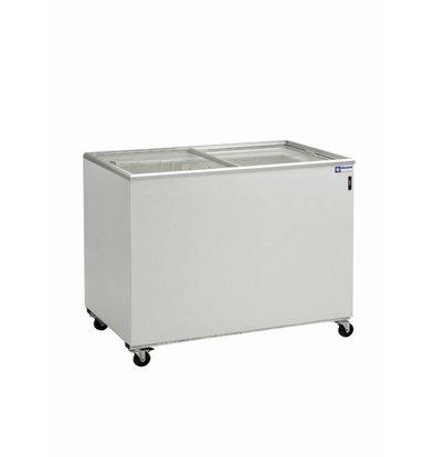 Diamond Freezer Showcase - Glass sliding cover - 400 Liter - 131x64x (h) 88cm