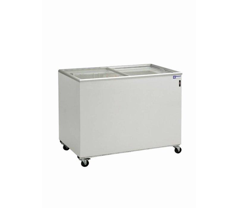 Diamond Freezer Showcase - Sliding glass lid - 400 Liter - 131x64x (h) 88cm