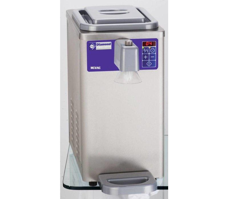 Diamond Slagroommachine - 300liter/uur - inhoud 6 liter - RVS