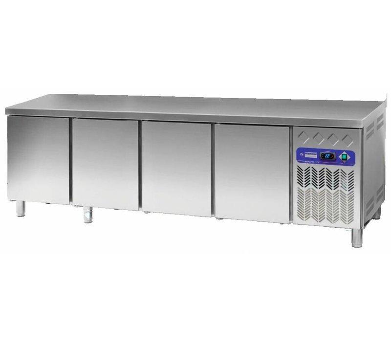 Diamond Kühle Workbench 80 cm tief - Edelstahl - 4 Türen - 2542x80x (h) 90cm - 760 Liter