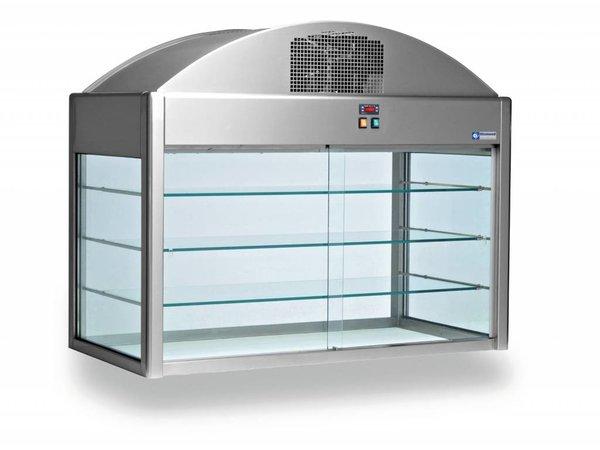 Diamond Neutrale Vitrine | Met Bodem | 1410x730x(h)1150 mm | 0,1 kW