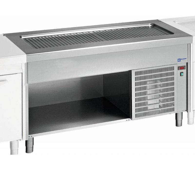 Diamond Heatsink Shallow Tub - 4x GN 1/1 - Edelstahl offenen Schrank - 0,5 kW - 1500x800x (h) 900mm