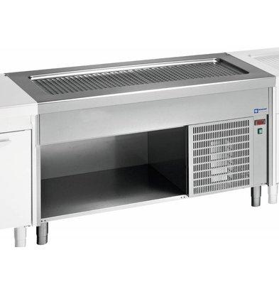 Diamond Heatsink Shallow Tub - 6x GN 1/1 - Stainless steel Open Closet - 0.6 kW - 2250x800x (h) 900mm