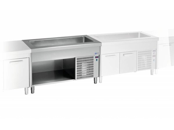 Diamond Cooled Heatsink Cockpit - 3x GN 1/1 - Stainless steel Open Closet - 0.5 kW - 125x800x (h) 900mm