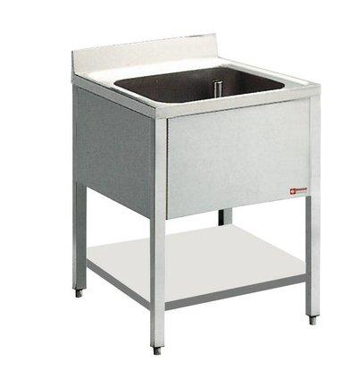 Diamond Sink Edelstahl - 1 Behälter - 700x700x900 (h)
