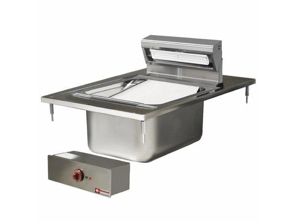 Diamond Fries Wärmegerät Edelstahl GN1 / 1 | 150 mm tief | Drop-in | 230V / 1kW | 400x600mm