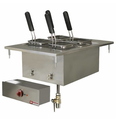 Diamond Pastakoker Elektrisch RVS | Drop-in | 20 Liter | 400V/6kW | 400x600mm