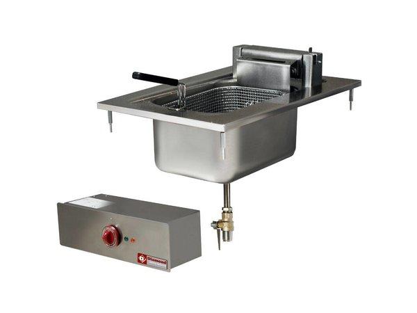 Diamond Fritteuse | 10 Liter | Einbau | 400V / 7,5 kW | 100 ° bis 180 ° C | 400x600mm
