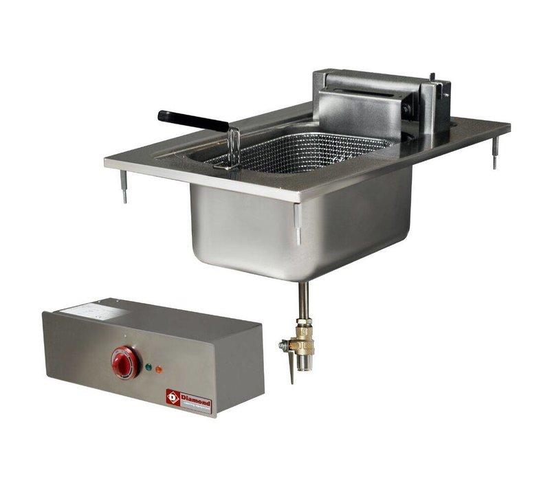 Diamond Friteuse Elektrisch | 10 Liter | Inbouw | 400V/7,5kW | 100° tot 180°C | 400x600mm