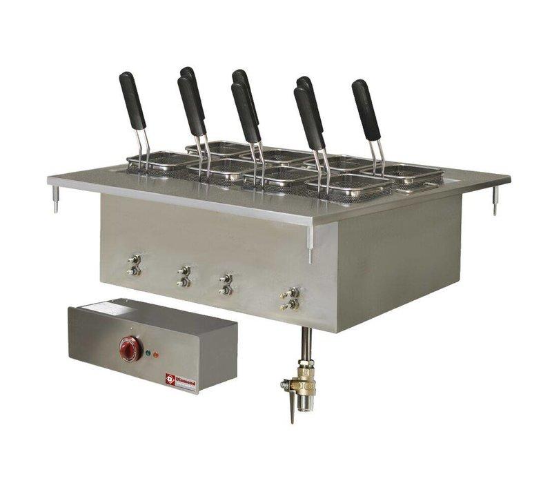 Diamond Nudelkocher Elektro SS | Drop-in | 40 Liter | 400V / 9 kW | 700x600mm