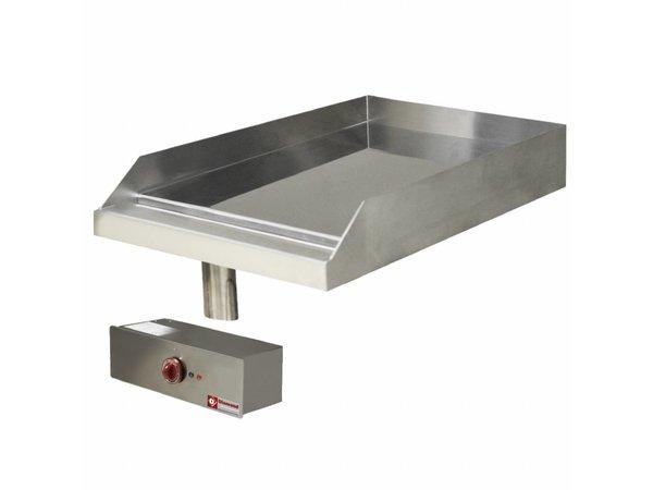 Diamond Edelstahl Bratpfanne Glatte | Drop-in | 120 ° bis 320 ° C | 400V / 4,5 kW | 400x600mm