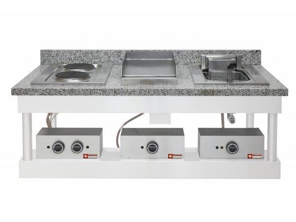 Diamond Electric Fryer   10 Liter   Recessed   400V / 7.5kW   100 ° to 180 ° C   400x600mm