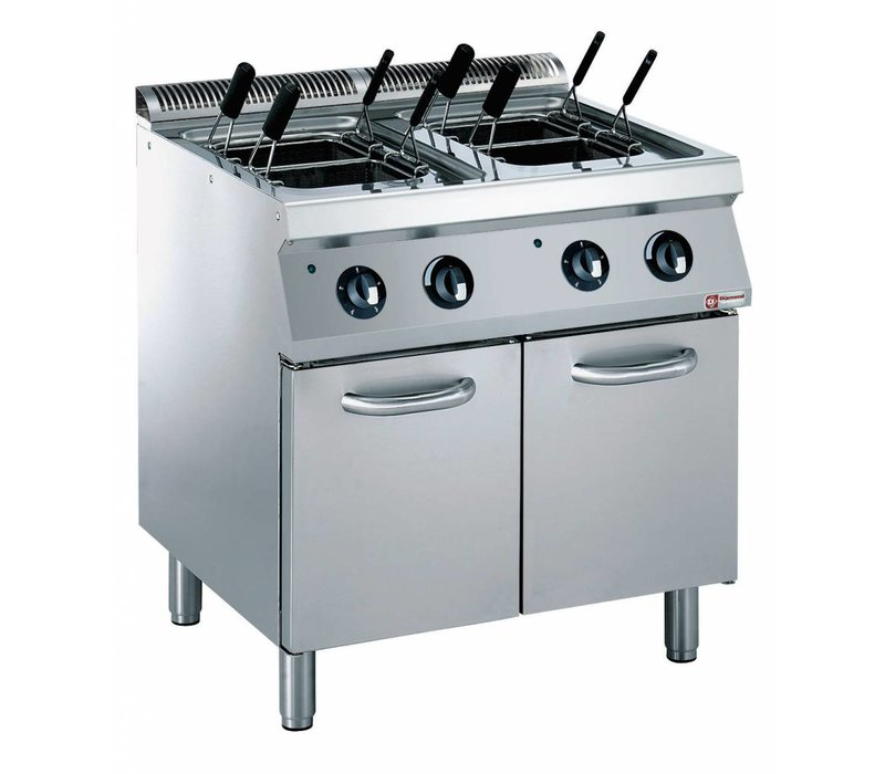 Diamond Pasta Cooker Electric SS | 2x 24.5 Liter | 400V / 12kW | 800x700x850 / 920 (h) mm