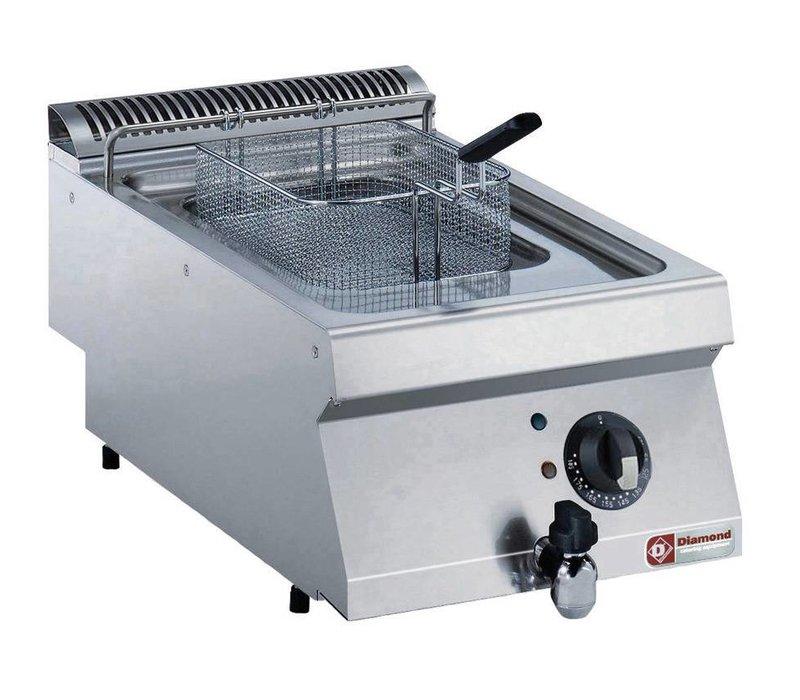 Diamond Electric Fryer   SS   7 Liter   400V / 5,4kW   400x700x250 / 320 (h) mm
