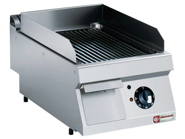 Diamond Stainless steel cooker | ribbed | tabletop | 400V / 4,5 kW | 400x700x250 / 320 (h) mm