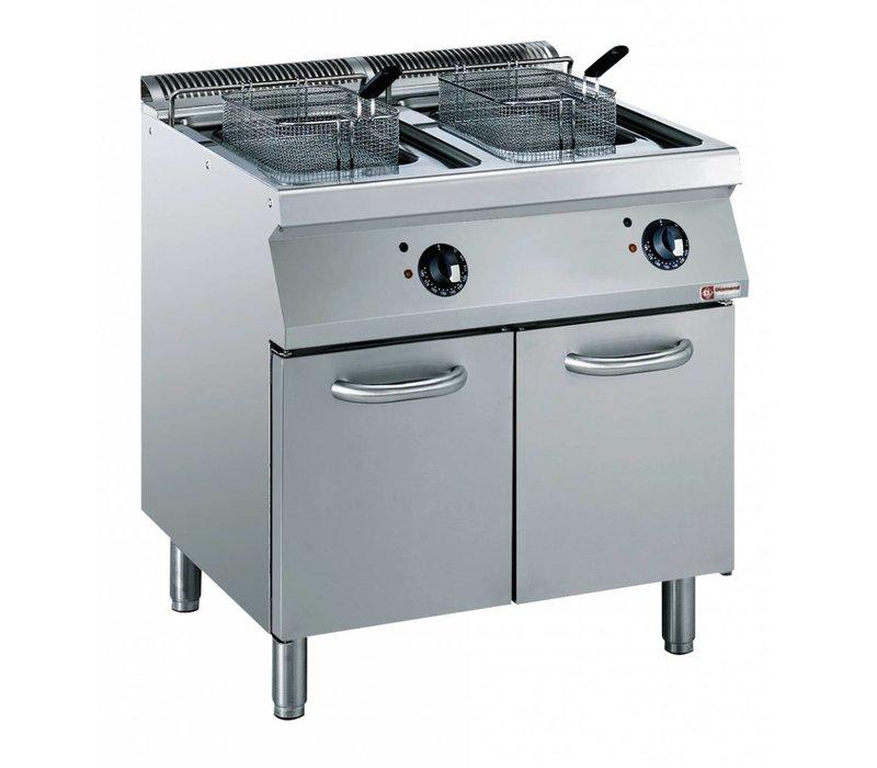 Diamond Elektriche Fryer | 2 x 15 liters | 400V | 20kW | Exterior Elements Cabinet | 800x700x (h) 850 / 920mm