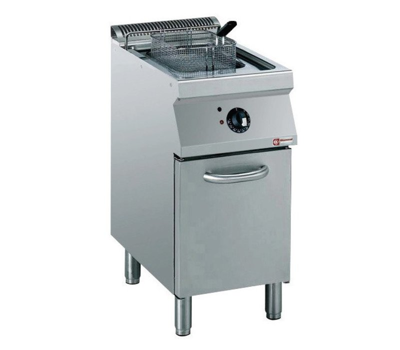 Diamond Electric Fryer | 15 Liter | 400V | 10kW | Exterior Elements Cabinet | 400x700x (h) 850 / 920mm