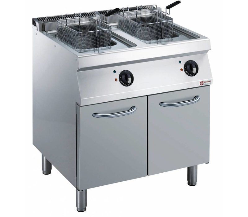 Diamond Electric Fryer | 2 x 14 Liter | 400V | 17,4kW | With Mount | 800x700x (h) 850 / 920mm