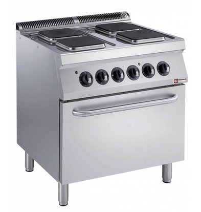 Diamond Electric Stove | 4 Square Records | 400V | 2,6kW | Electric Oven | 800x700x (h) 850 / 920mm