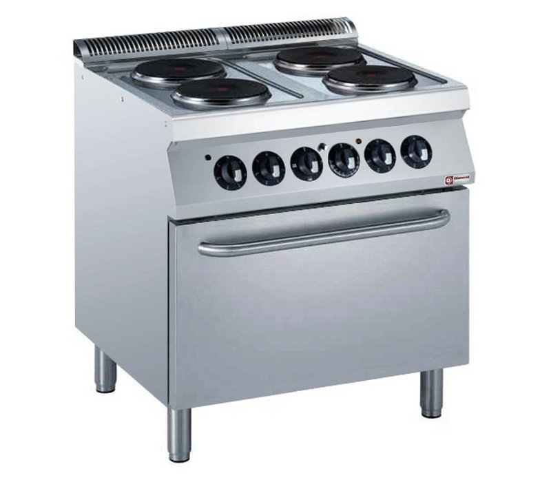 Diamond Electric Stove   4 Records   400V   2,6kW   Electric Oven   800x700x (h) 850 / 920mm
