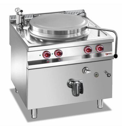 Diamond Kochkessel Elektro-SS | 100 Liter | Indirekte Heizung | 14,4kW | 800x900x850 / 920 (h) mm