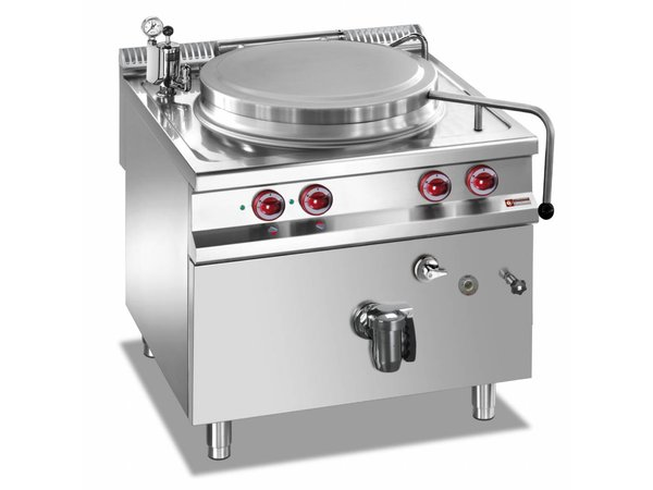 Diamond Boiling Pan Electric SS | 100 Liter | Indirect Heating | 14,4kW | 800x900x850 / 920 (h) mm
