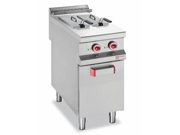 Diamond Fryer Elektrische SS | 2x8 Liter | Mit Unterbau | 10,5kW | 400x900x850 / 920 (h) mm