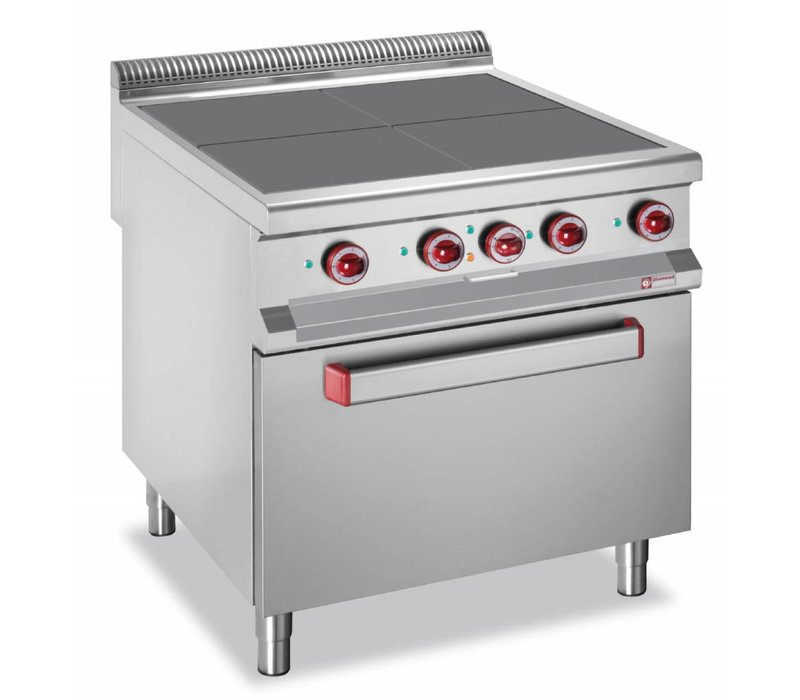 Diamond Electric stove + oven GN2 / 1 | SS | 4 Cooking | 16kW | 800x900x850 / 920 (h) mm